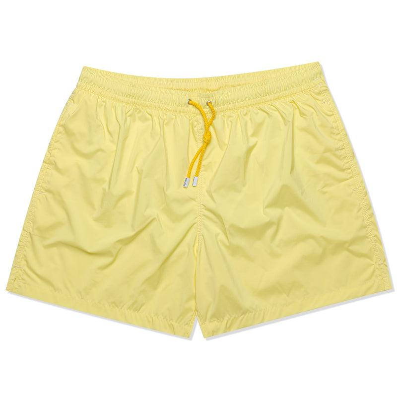 FEDELI Solid Yellow Madeira Airstop Swim Shorts Trunks NEW XL