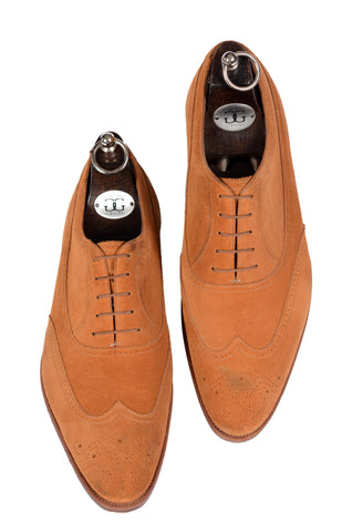 "GAZIANO & GIRLING ""Westminster"" Fox Suede Leather Oxford Dress Shoes UK 8E US8.5"