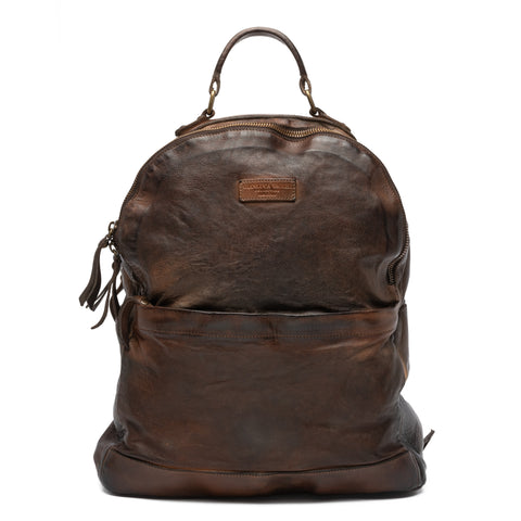 GIANLUCA VACCHI Collection Brown Antiqued Leather Backpack Bag NEW
