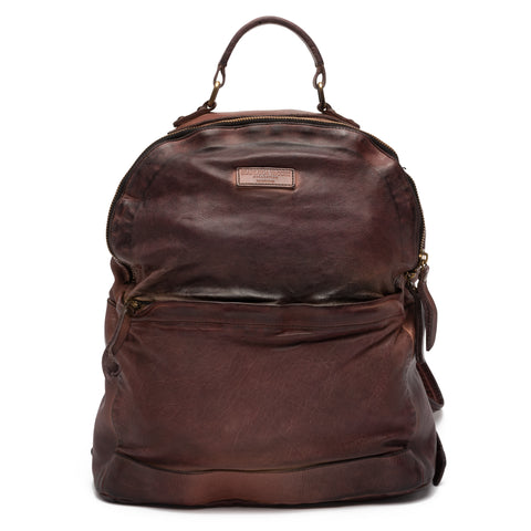 GIANLUCA VACCHI Collection Burgundy Antiqued Leather Backpack Bag NEW