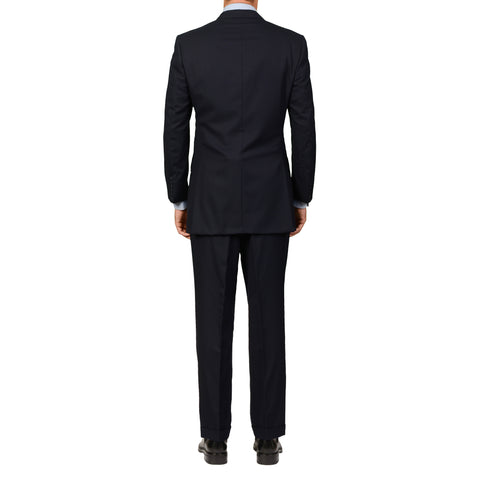 GIEVES & HAWKES Navy Blue Cashmere-Wool Super 120's Suit 51 NEW US 40 41 Long