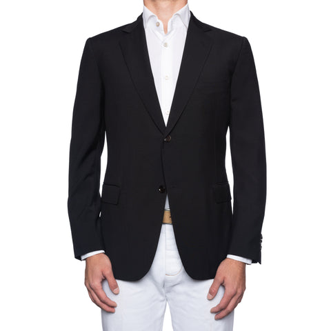 GIOVANNI CASTANGIA Black Wool Super 100's Jacket EU 54 NEW US 44