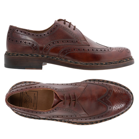 "HEINRICH DINKELACKER ""4431 Buda Full Brogue"" Brown Goyser Shoes NEW US 10.5"