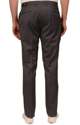 INCOTEX (Slowear) Blue-Gray Wool Flat Front Dress Pants 40 Slim Fit 56 NEW