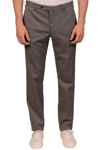 INCOTEX (Slowear) Gray Patterned Cotton Stretch Casual Pants NEW Slim Fit