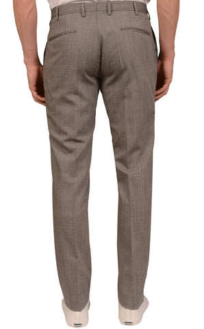 INCOTEX (Slowear) Gray Wool Flat Front Dress Pants NEW Slim Fit