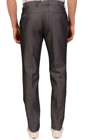 INCOTEX (Slowear) Gray Wool Linen Flat Front Dress Pants NEW Slim Fit