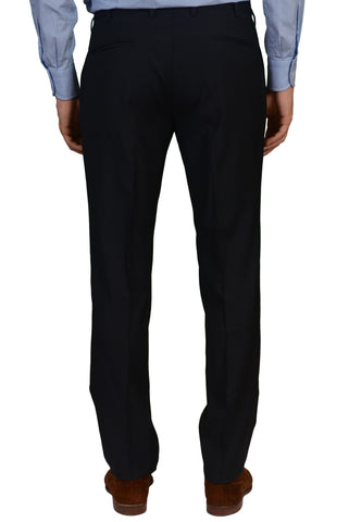 INCOTEX (Slowear) Navy Blue Wool Flat Front Dress Pants NEW Slim Fit