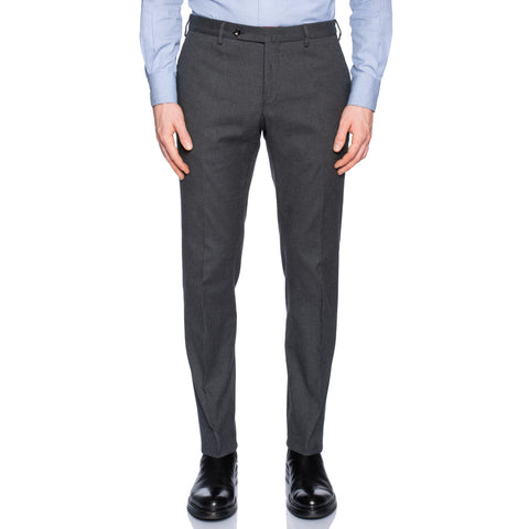 INCOTEX (Slowear) Gray Shepherd Check Cotton Stretch Pants NEW Slim Fit