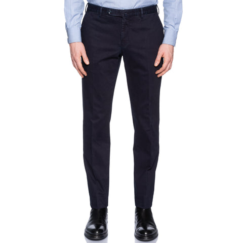 INCOTEX (Slowear) Dark Blue Cotton Garment Dyed Chino Pants NEW Slim Fit