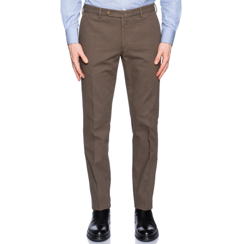 INCOTEX (Slowear) Taupe Khaki Cotton Pants Chinos NEW Slim Fit