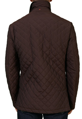 "ISAIA NAPOLI ""A'LIVELLA"" Solid Brown Poly Quilted Waterproof Aqua Jacket NEW - SARTORIALE - 2"