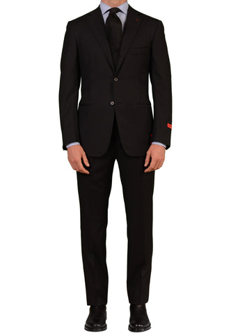 "ISAIA NAPOLI ""Base L"" Black Herringbone Super 110's Wool Suit NEW - SARTORIALE - 1"