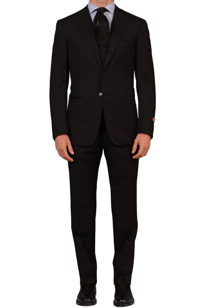 "ISAIA NAPOLI ""Base S"" Black Striped Wool Suit EU 50 NEW US 38 40 - SARTORIALE - 1"
