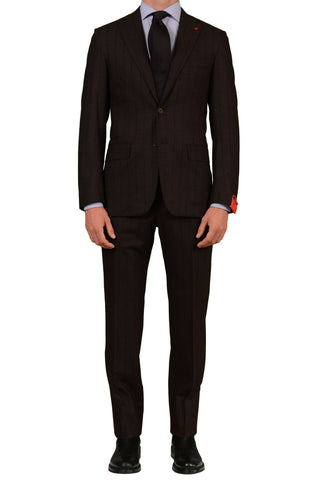 "ISAIA NAPOLI ""Base S"" Brown Striped ""Tridimensional"" Wool Suit 48 NEW US 36 38 - SARTORIALE - 1"