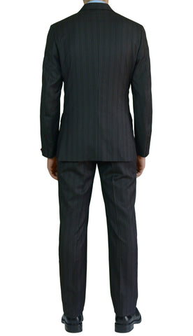 "ISAIA NAPOLI ""Reggia"" Diplomat Brown Striped Wool Suit EU 48 NEW US 38 Defect - SARTORIALE - 2"