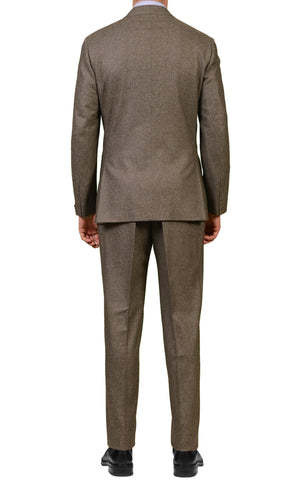 "ISAIA NAPOLI ""Reggia"" Solid Sand Gray Wool Suit US 44 NEW EU 54"