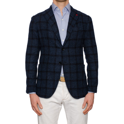 "ISAIA Napoli ""Augusto"" Handmade Blue Wool Unlined Jacket EU 50 NEW US 40"