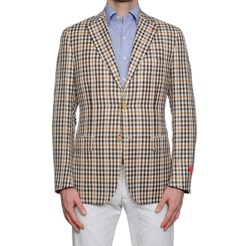 "ISAIA Napoli ""Base S"" Summer Wool-Linen-Silk Sport Coat Jacket EU 50 NEW US 40"