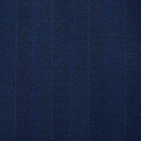 "ISAIA Napoli ""Base S"" Blue Herringbone Striped Wool Super 150's Jacket 44 NEW 34"