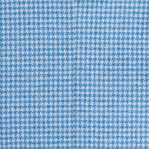 "ISAIA Napoli ""Base S"" Blue Houndstooth Wool-Silk-Linen Jacket EU 46 NEW US 36"