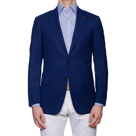 "ISAIA Napoli ""Base S"" Blue Wool Super 130's Sport Coat Jacket EU 48 NEW US 38"