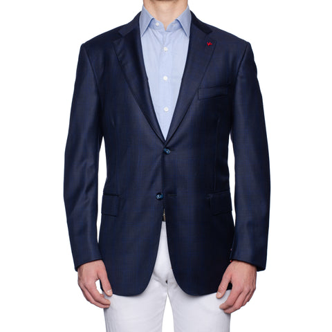 "ISAIA Napoli ""Base S"" Blue Wool Super 150's Sport Coat Jacket EU 56 NEW US 46"