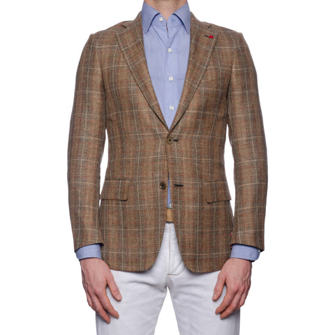 "ISAIA Napoli ""Base S"" Dandy Attitude Silk-Linen-Wool Jacket EU 44 NEW US 34"