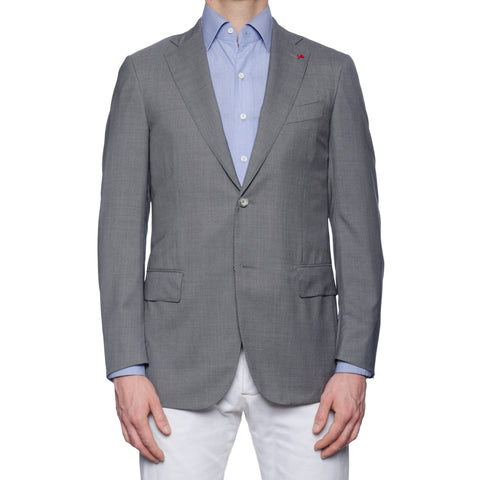 "ISAIA Napoli ""Base S"" Gray Silk-Wool Super 150's Aqualight Jacket 48 NEW US 38"
