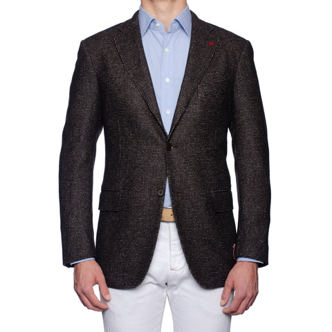 "ISAIA Napoli ""Base S"" Gray Wool-Cashmere Boucle Jacket EU 52 NEW US 42"