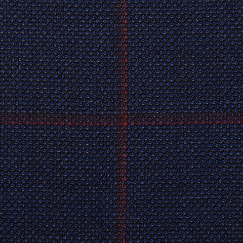 "ISAIA Napoli ""Base S"" Navy Blue Plaid Wool Super 140's Jacket EU 56 NEW US 46"