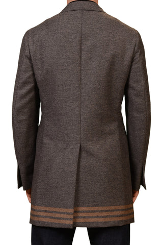 "ISAIA Napoli ""Colorado Piazz"" Gray Wool - Cashmere Covert Coat EU 50 NEW US 40"