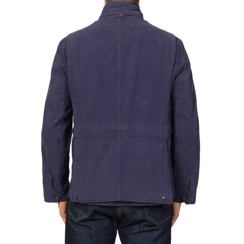 "ISAIA Napoli ""PROTO 19"" Blue Cotton Unlined Field Jacket Coat US 40 M NEW EU 50"