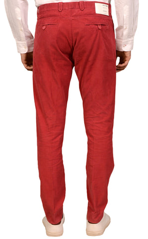 ITALIA INDEPENDENT Red Cotton Corduroy Slim Fit Jeans Pants EU 52 NEW US 36