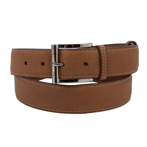 J.M. WESTON Paris Brown Leather Belt 95 cm 38""