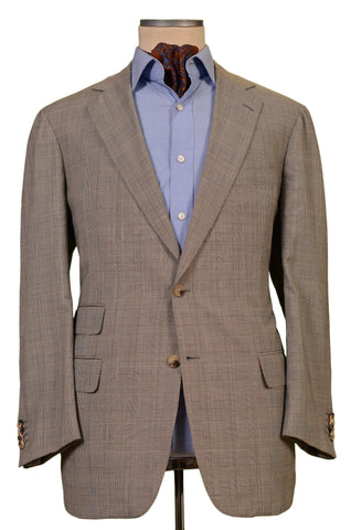 JAY KOS New York Gray Prince Of Wales Wool Mohair Blazer Jacket EU 54 US 44 - SARTORIALE - 1