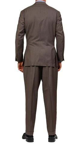 JAY KOS New York Gray Striped Wool Business Suit EU 54 US 44