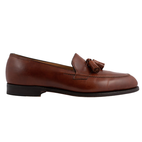 "JOHN LOBB ""Truro"" Brown Leather Tassel Loafers Shoes UK 6.5E US 7.5 Last 4098"