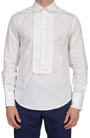 JUST CAVALLI Made In Italy White Cotton Dress Shirt US S EU 48