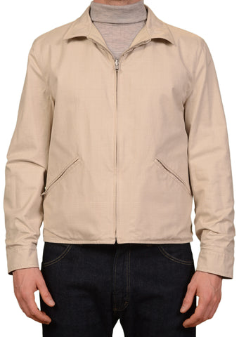 K. Punto Rosso by KITON Beige Reversible Leather Cotton Jacket EU 50 NEW US 40