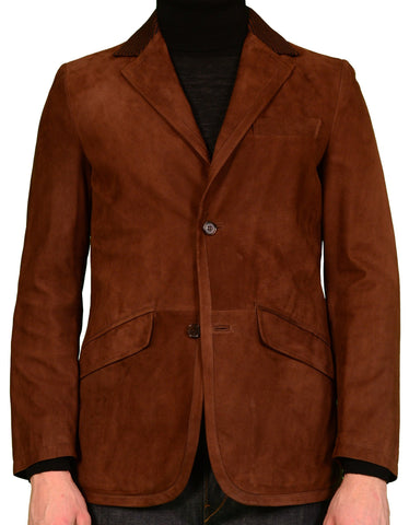 K. Punto Rosso by KITON Brown Suede Leather Blazer Suede Jacket 50 NEW US 38 40 - SARTORIALE - 1