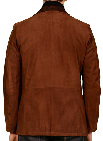 K. Punto Rosso by KITON Brown Suede Leather Blazer Suede Jacket 50 NEW US 38 40 - SARTORIALE - 4