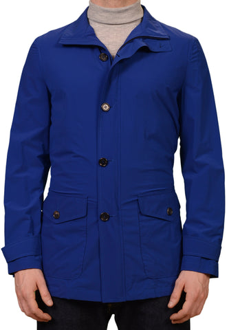 K. Punto Rosso by KITON Napoli Blue Spring Jacket Car Coat EU 50 NEW US 40