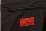 K. Punto Rosso by KITON Napoli Gray Houndstooth Cotton Poly Rain Coat 50 NEW 40