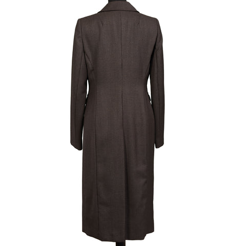 KAN Brown Wool Women Coat IT 38 NEW US 2