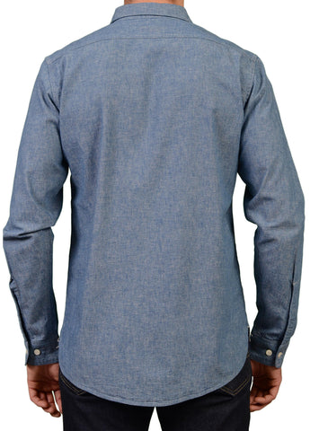 KENNETH FIELD Blue Cotton Casual Shirt EU 50 NEW US M