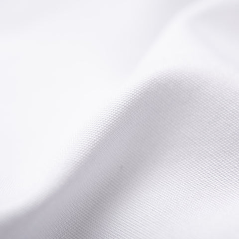 KITON Napoli Handmade Bespoke Solid White Poplin Cotton Dress Shirt US 15.75