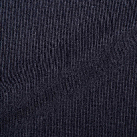 KITON Napoli Handmade Solid Navy Blue Linen Button-Down Dress Shirt 39 NEW 15.5