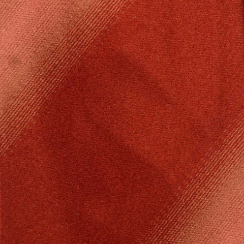 KITON Hand-Roll Brick Red Silk Striped Seven Fold Tie NEW - SARTORIALE - 4