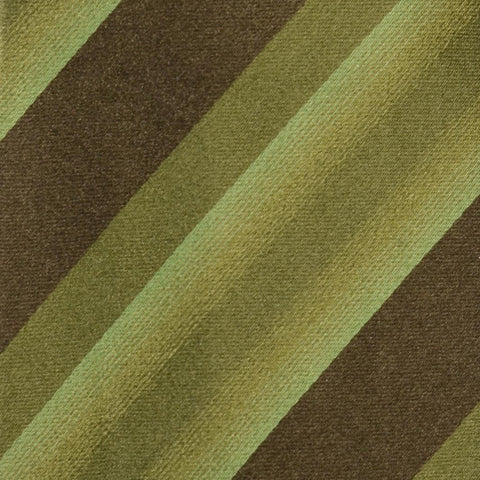 KITON Hand-Roll Green Striped Silk Seven Fold Tie NEW - SARTORIALE - 4